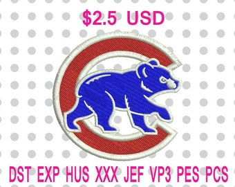 Chicago Cubs Logo Machine Embroidery Design 6 Sizes-INSTANT DOWNLOAD