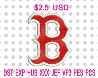 Boston Red Sox Logo Machine Embroidery Design 6 Sizes-INSTANT DOWNLOAD