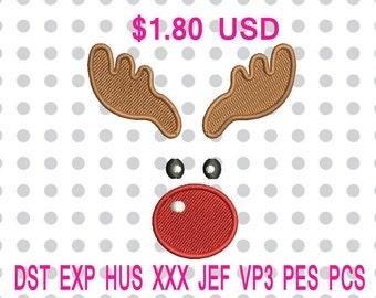 Reindeer Machine Embroidery Design-INSTANT DOWNLOAD