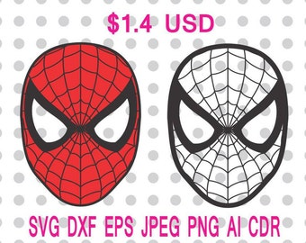 Spiderman Logo Svg Dxf Eps Png Jpg Cdr Ai Cut Vector File Silhouette Cameo Cricut Design Vinyl Decal