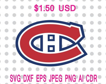 Montreal Canadiens Logo Svg Dxf Eps Png Jpg Cdr Ai Cut Vector File Silhouette Cameo Cricut Design Vinyl Decal