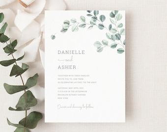 Sage Leaves Invitation