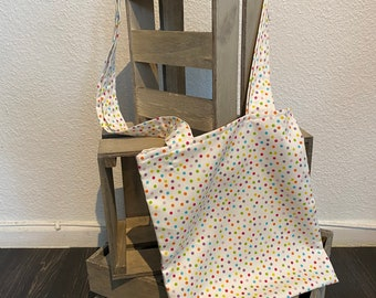 homemade cute bag with funny colorful dots