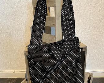 Bag with minimal dots - homemade - handmade