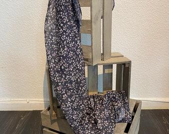 Chiffon Scarf with Lurex Threads - Homemade Cloth - Neck Scarf / Turban / Ladies