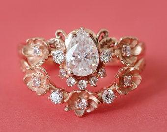 Custom order deposit payment: all diamonds bridal ring set