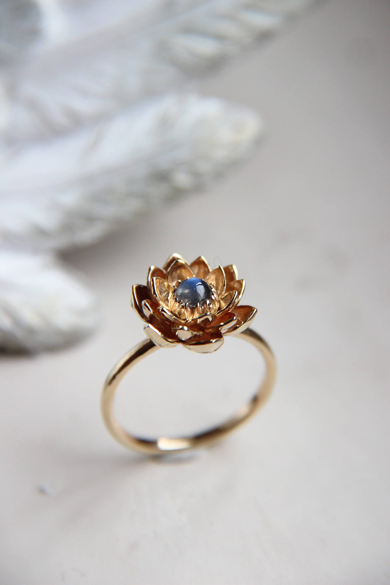 lotus proposal yellow rings engagement flower il ring listing gold unique jewelry moonstone floral fullxfull