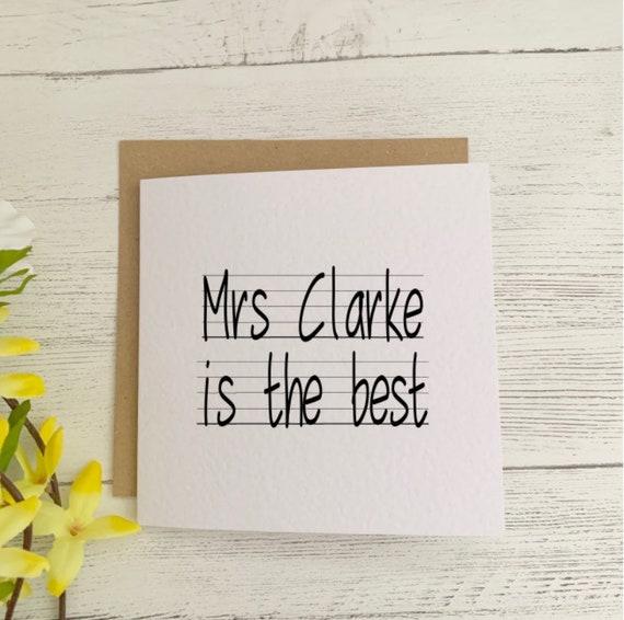 teacher thank you card best teacher personalised card teacher personalised card thank you teacher card best teacher cards