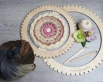 DIY Weaving Kit - Large Frame Loom - Circular Loom Kit - DIY Wall Hanging Kit - Frame Loom - Woven Wall Art Kit - Large Lap Loom - Loom Kit