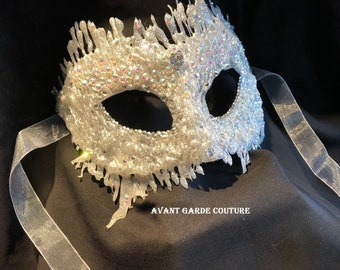 Ice Queen Masquerade Mask