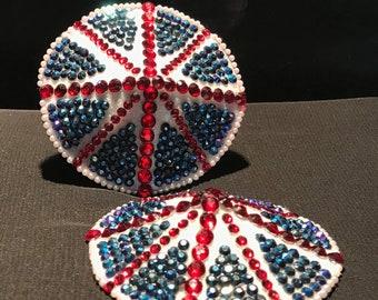 Union Jack Crystal Pastie