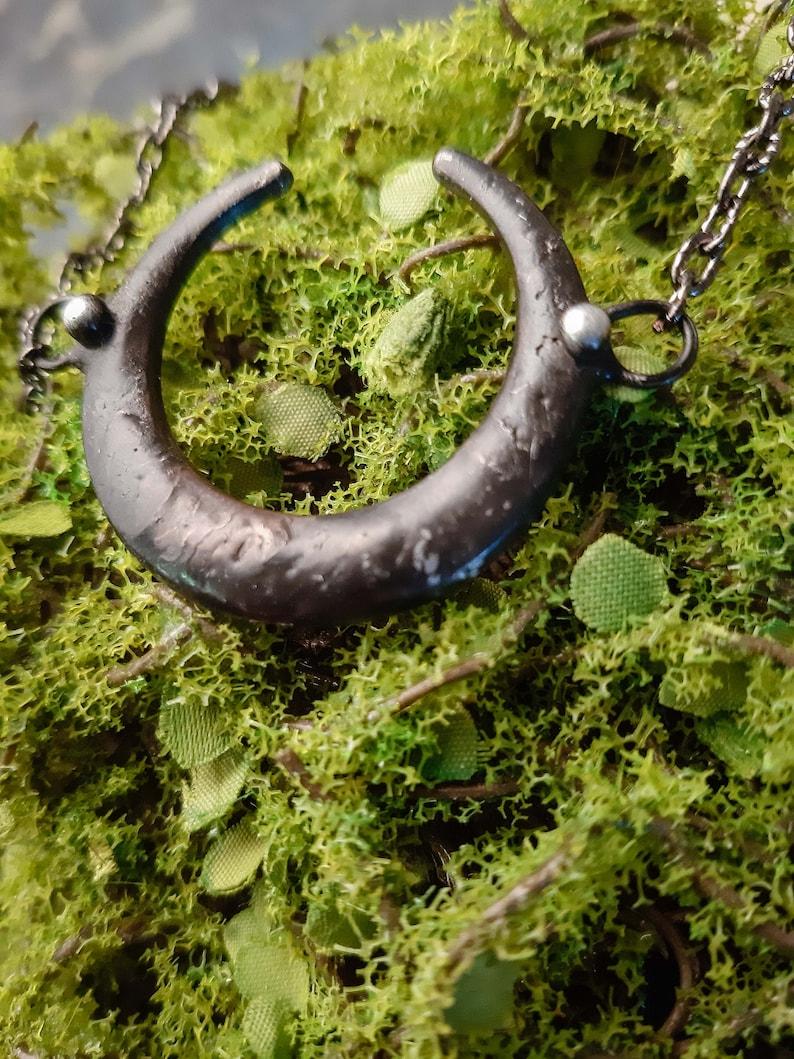 Crescent Moon Dainty Moon Necklace Boho Necklace. Simple moon pendant