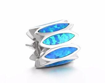 92fd3a700 Blue Fire Opal Women bijoux jova fina Accessories 100% 925 Sterling Silver  fit for Authentic pandora Charms and european bracelets