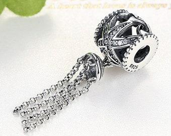 Passt Für Pandora Charms Armbänder Schwarz Stoff Quaste Baumeln Perlen 100% 925 Sterling-silber-schmuck Kostenloser Versand Schmuck & Zubehör