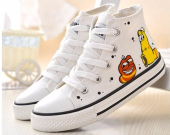 5b169c0326 Cool Larva Women Hand-painted Canvas Shoes Sneakers Converse style Sneakers  Handpainted Painted Shoes Unique hand painted canvas shoes