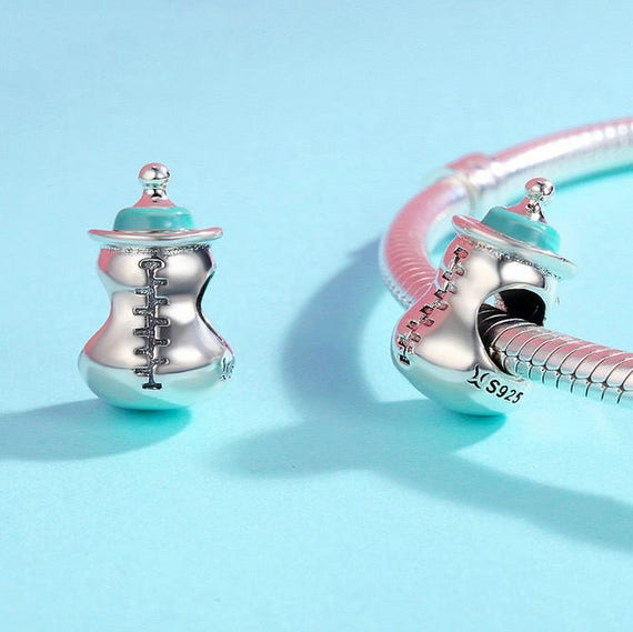 Beautiful Sterling silver 925 sterling Sterling Silver Reflections Baby Bottle Bead