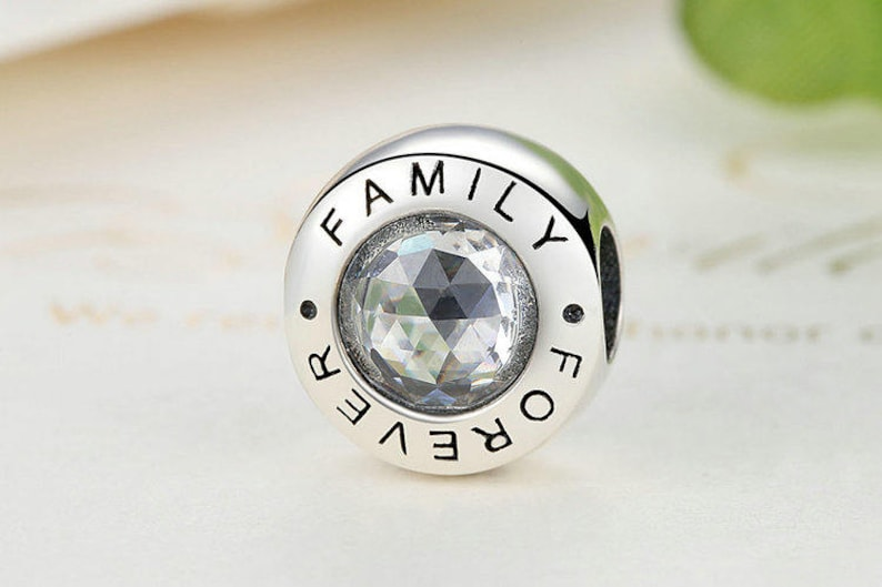 8787a2ce4 Family Forever Charm Beads Fit European & Pandora Charm | Etsy