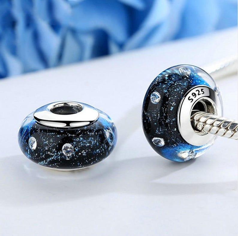 Bracciale Donna Silver 925 Charms Colorate Vetro Murano Zirconi