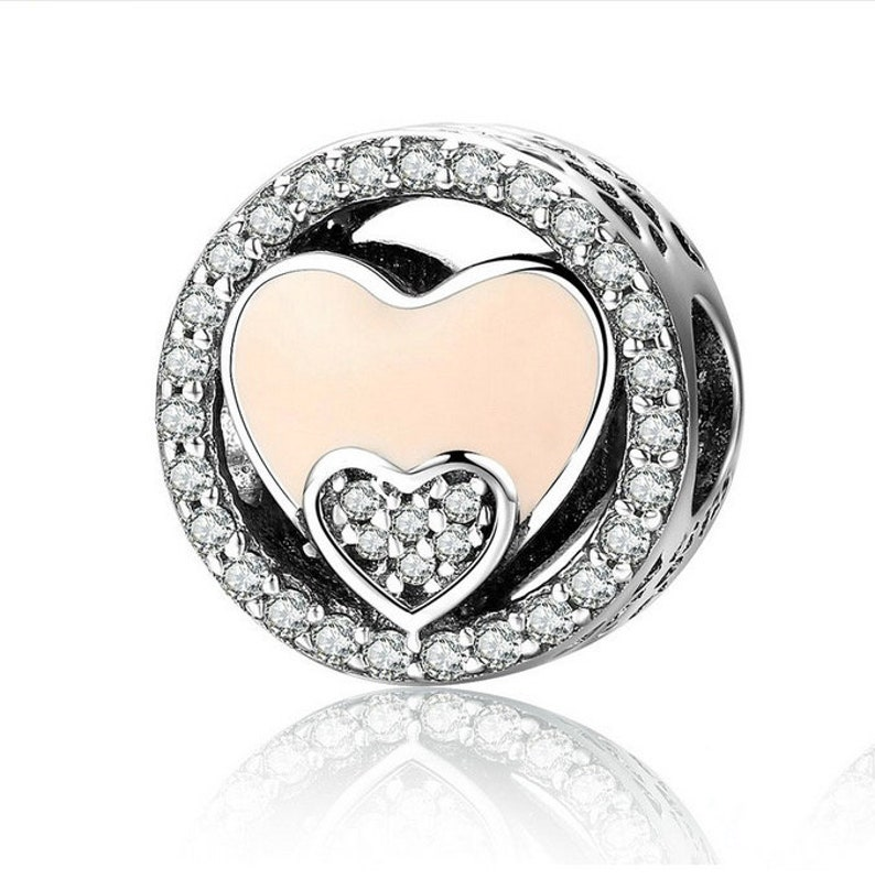 229190f9057b5 Sweet Double Heart Radiant   Shimmering CZ Dog Jewelry 100%