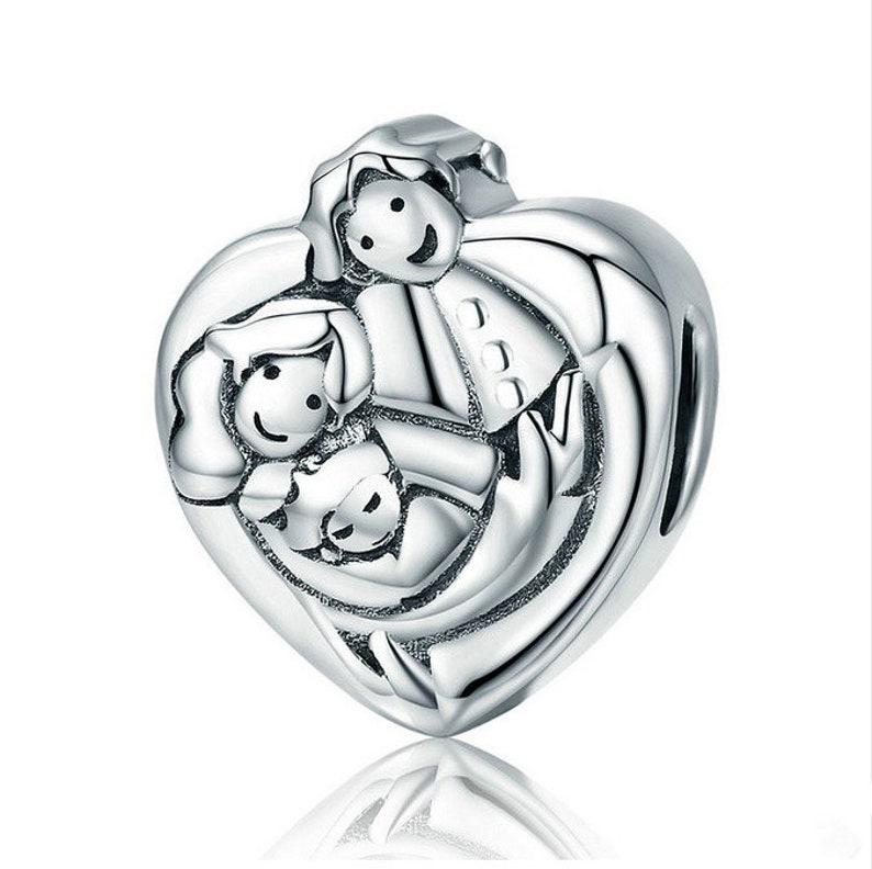 c7606f9c4 Sweet Family Forever Heart Shape Charm Beads Bracelet Bangles | Etsy