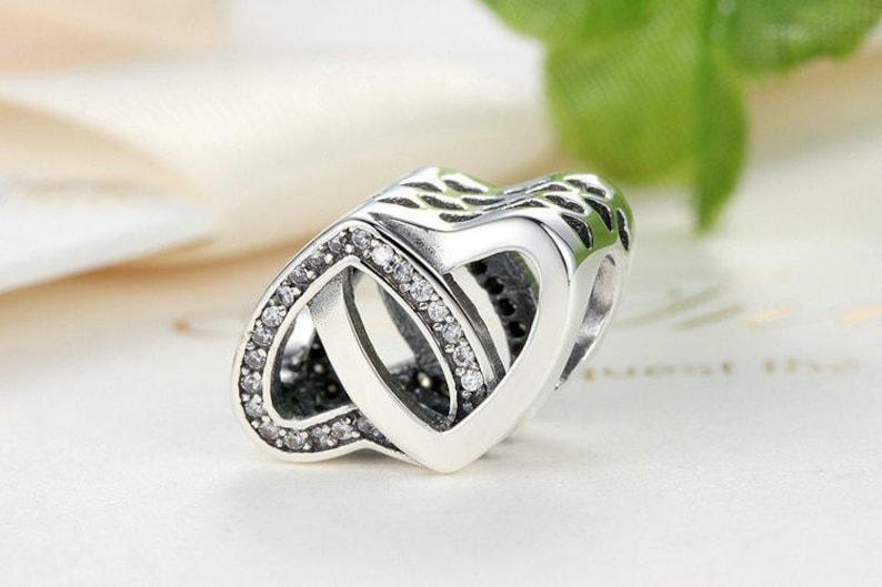 919d73ea4 Entwined Love Charm Beads Fit Original WST Bracelet 100% 925 | Etsy