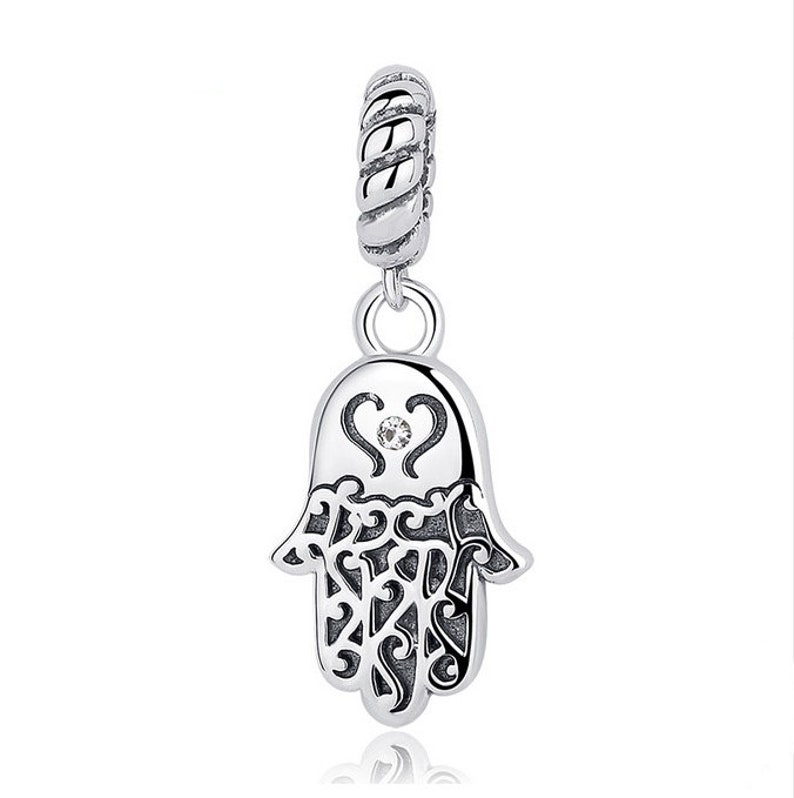 b18addbd1 Lucky Hamsa Hand Pendants Charm fit Bracelet Necklaces 100% | Etsy