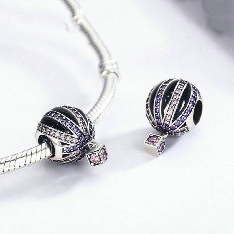 2f2976d13a59e Sterling Silver Romantic Hot-air Balloon Beads charms 100% 925 Sterling  Silver fit for Authentic pandora and european bracelets