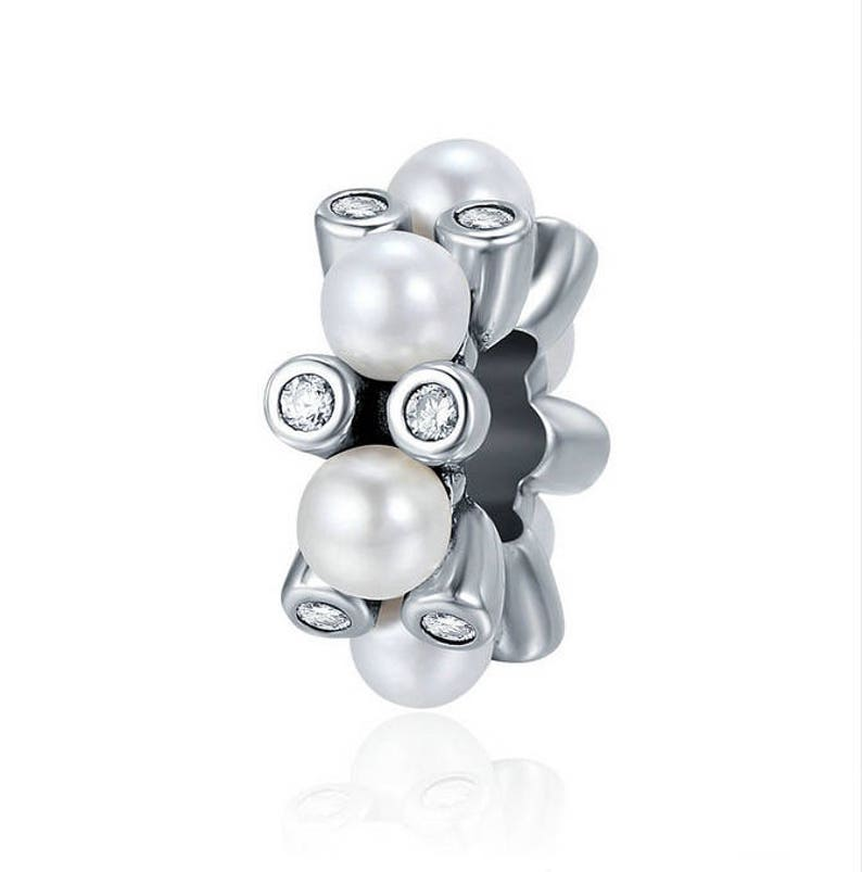 dcda8e3ae Elegant Pearls Spacer Fit Original WST Charm 100% 925 Sterling | Etsy