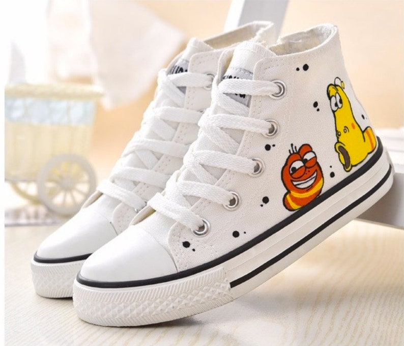 Cool Larva Women Hand-painted Canvas Shoes Sneakers Converse  6fdc361be