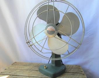 Victor Electric Victron Metal Fan - Oscillating Vintage Industrial Fan