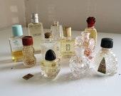 Mini Perfume Bottle Lot - Set of 11 - Empty and Full