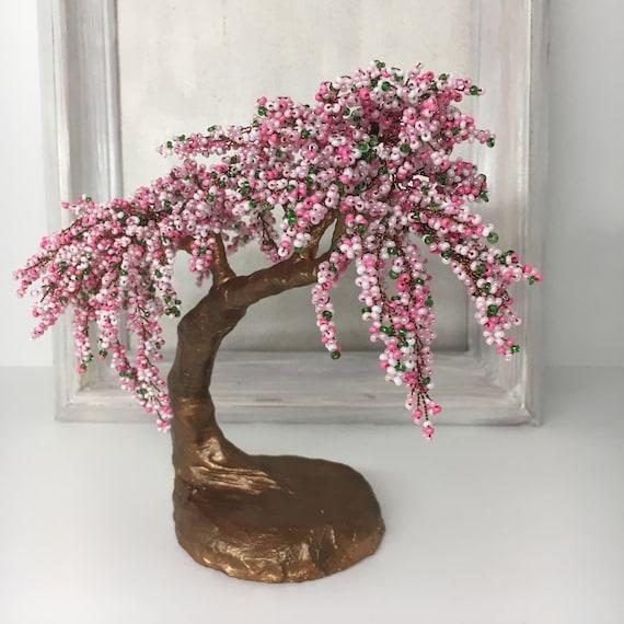 Cherry Blossom Pink Beaded Bonsai Tree Gardening Gift Sakura Etsy