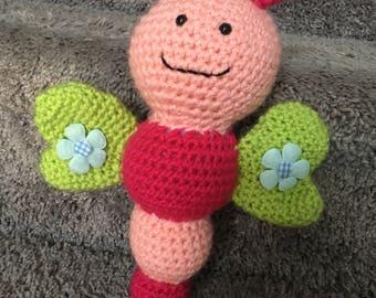 Crochet Butterfly rattle
