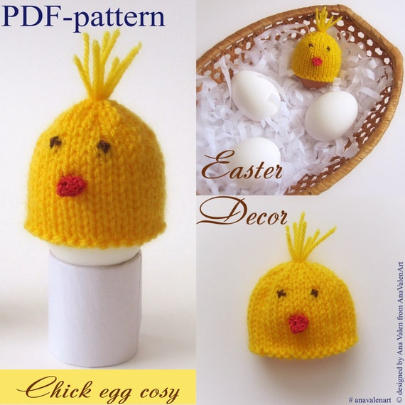 Pdf Pattern Chick Egg Cosy Knitting Pattern Egg Cozy Easter Etsy