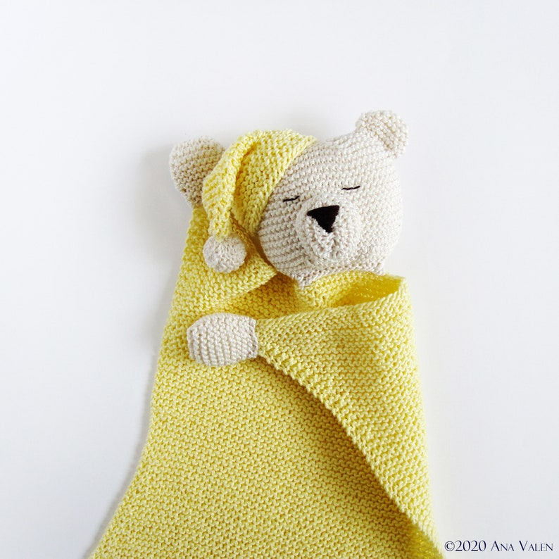 Baby comfort cuddle blanket pattern PDF Teddy lovey Knit ...