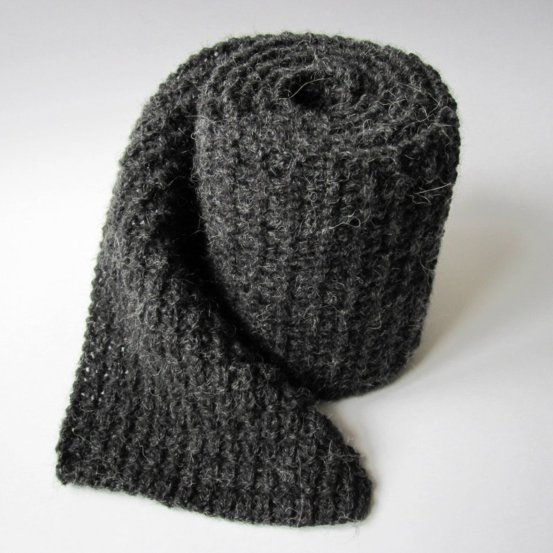 Long Scarf Chunky Scarf Woolen Scarf Hand Knit Scarf For Man Etsy