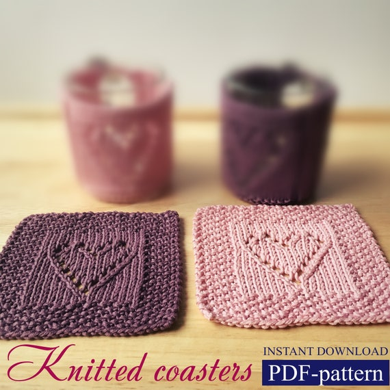 Pdf Pattern Coasters Knitting Pattern Coaster Instant Download Etsy