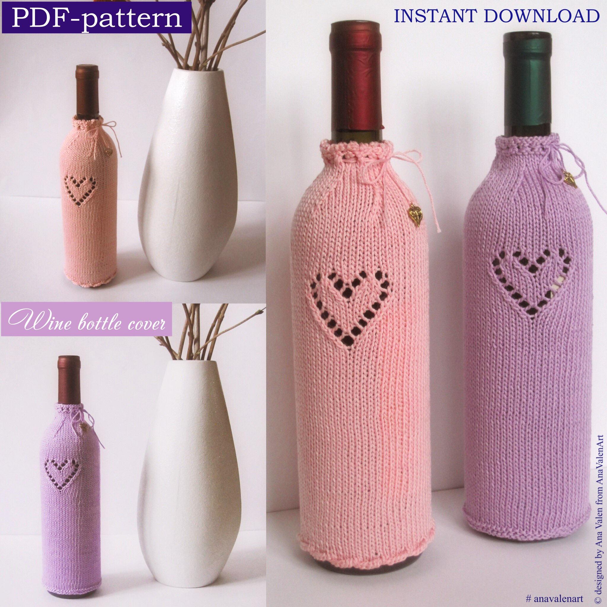 PDF-pattern Knitting Pattern Wine bottle cover Instant Download PDF ...