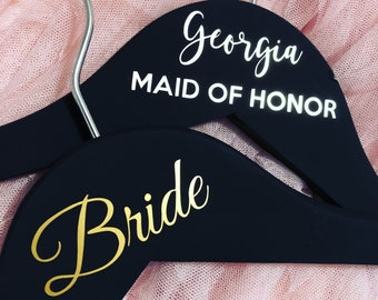 Clothing Hanger Decals Wedding Party - DIY - 2 LINES