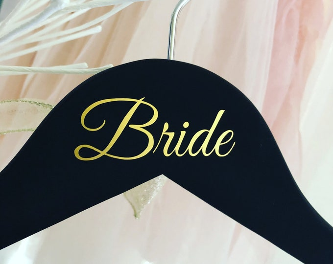 Clothing Hanger Decals Wedding Party - Single Line