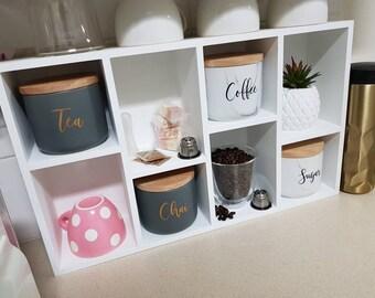 Coffee, Tea, Sugar, Chai Decals - Set of 4