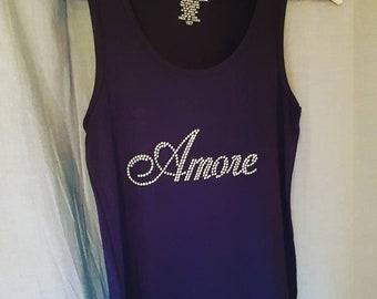Amore singlet embellished with crystals from Swarovski®