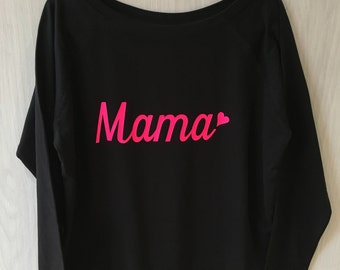 Ladies Sweatshirt Cosy Sweat, Gorgeous Mama Sweatshirt Mothers Day Gift Bella Mama Sweatshirt Pink Sweatshirt Bella Mama Mama