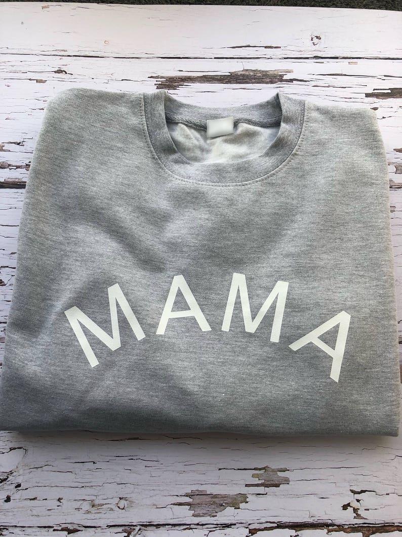 Ladies Sweatshirt Gorgeous Mama Sweatshirt Mama Cosy Sweatshirt, Grey Sweatshirt Mama Sweatshirt Mothers Day Gift
