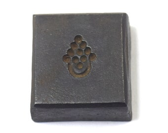Vintage Indian Religious Bronze Jewelry Making Stamp  Dye Indian Hindu Goddess Durga Religious Collectible Amulet Making Mould G46-152