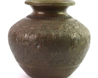 Antique Vintage Lota Heavy Amulets Collectible Puja Lota For Decor Brass Bronze. Other Asian Antiques
