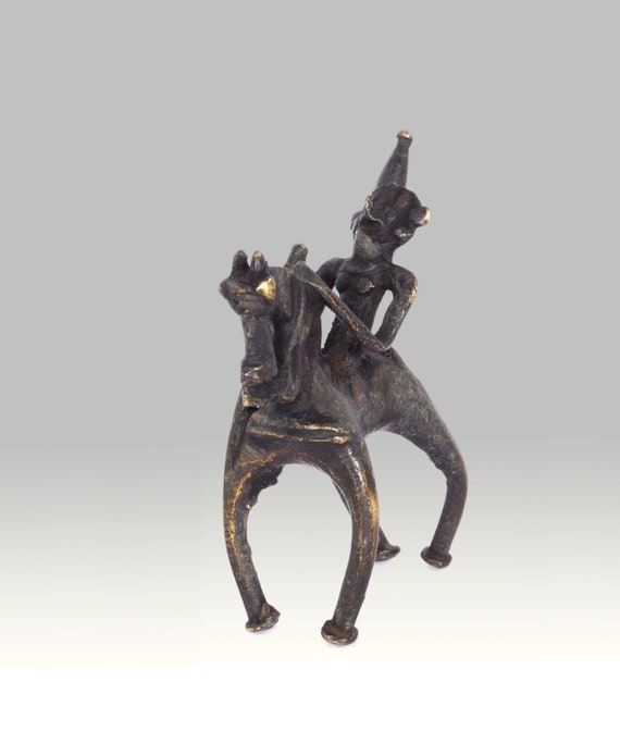 RARE LIFE-LIKE BRONZE COLLECTION HANDCRAFTED CARVED OLD HORSE STATUE DECORATION