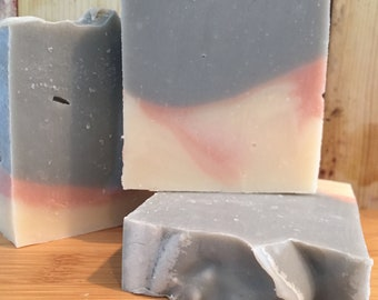 Rosehip, Brazilian Clay & Activated Charcoal All Natural Vegan Soap