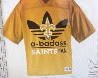 95b11d70a Bad ass saints gold jersey
