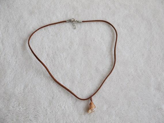 natural genuine seashell pendant summer lover/'s gift gift for her Broken seashell necklace gift for him wire and seashell necklace